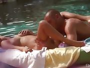 Great day for outdoor sex by the pool