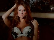 Sexy Leanna Decker flaunting her soft curves