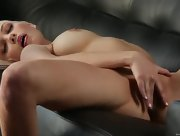 Big titted Bree Daniels on the couch