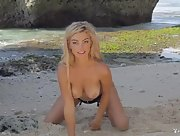 Gorgeous Anika Shay exposes her curves on the beach