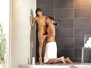 Horny Gina Gerson makes love in the bathroom