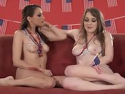 Spend some time with hot babes Alaina Fox and Celeste Star