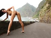 Spectacular perky babe Sapphira is always ready to get naked