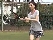 Are you ready for some sexy tennis with curvy Asian beauty Fujimoto Asami