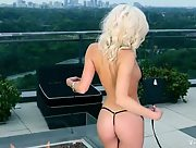 Ravishing blonde Shannon Cole showcases her amazing body just for you