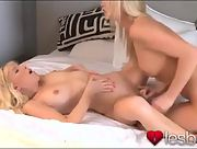 Young seductive blondes make love passionately
