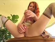 Beautiful young redhead Dolly is feeling naughty