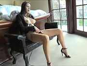 Adorable brunette Madi goes to her bedroom to pleasure her delicious pussy