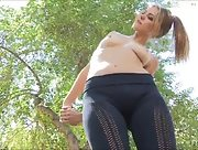 Super sexy Cosima goes for a run and strips outdoors