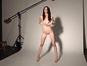 Perky young babe Olyvia gets naked for the camera