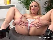 Brittany Bardot gets naked and uses her pussy pump to swell up her pussy