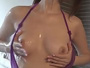 Adorable Miyu Hoshino gets naked in the shower