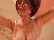 Mika Tadokoro makes her big boobs bounce in the bedroom
