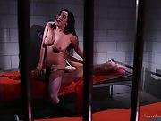 Ravishing babes Cherie DeVille and Karlee Grey have a great time in a prison cell