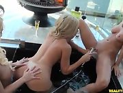 Adriana Sephora Molly Cavalli and Sammie Rhodes have some fun in the tub