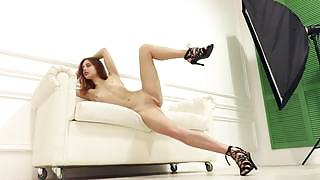 Take a look at this mesmerizing redhead and her nubile naked body