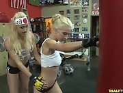 Boxing babes Lux Kassidy Celeste Star and Sammie Rhodes make a break and have some fun