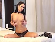Sexy yet charming hottie Angie Moon seductive in Lingerie Lover