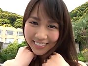 Smoking All Gravure Beauty Kuniko Kimura shows her attractive young body in Hole In One Scene 1