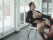 Enjoy nice photo set of two astonishing lesbians Henessy A and Kira Queen in action