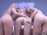 Paris joins Nikki and Carli and has fun with them in the bedroom