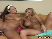 Renna Ryann and Molly Cavalli play with toys together