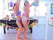 Adorable and playful vixen Charlotte charming in Celebrations