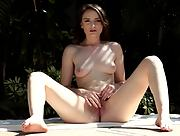 Daring and youthful charmer Luci Lovett seductive in Pool Honey
