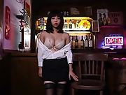 Daring and youthful hottie Kohaku Kimizu shows of her stunning body great ass and nice pussy