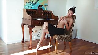 Skinny Sultana is feeling lonely horny and naughty at home