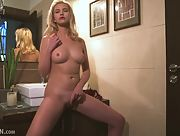 Gorgeous blonde Mary Lin has a nice body and she is all about to show it