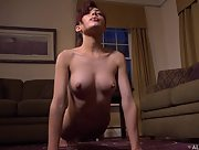 Sweet and petite Sabina Rouge displays her delightful body in a various sexy poses