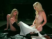 Smoking hot blondes Dahlia Sky and Charlotte Stokely get naked and ready for pleasure
