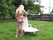 Flirty and playful angel Skylar Valentine bares her gorgeous body in Blonde Babe
