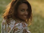 Adoring natural cutie Anetta Keys flaunts her sexy athletic body outdoors in the meadow