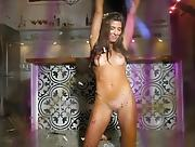 Sweet brunette Carmen Nikole with nice medium tits and bouncing ass poses nicely for you