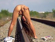 Romantic and effortlessly beautiful nubile girl Baby Shine erotically poses in Beauty In Nature