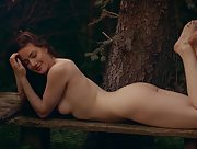 Joy Draiki slowly takes off her brown underwear to show you her secret places on her secret place