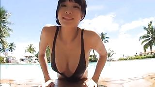 Beautiful Anna Konno gets naked in Konna Anna Arousing Japanese Teen Models Barely There Swimsuit