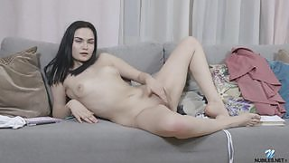Romantic and effortlessly beautiful girl Mileva gets nude and nasty in Strawberry