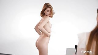 Blossoming babe Alice Nekrasova looks breathtaking and is not shy to show her naked body