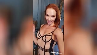 Russian beauty Mia Aria alluringly undressing in a homemade video